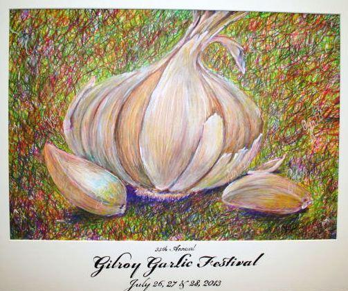 garlic festival art poster 2013