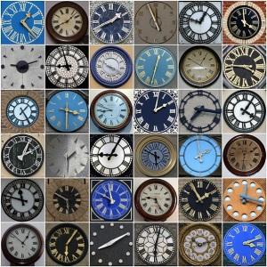 poster of clocks