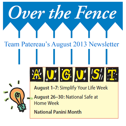 graphic for August Newsletter