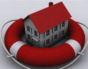 life saving ring with house