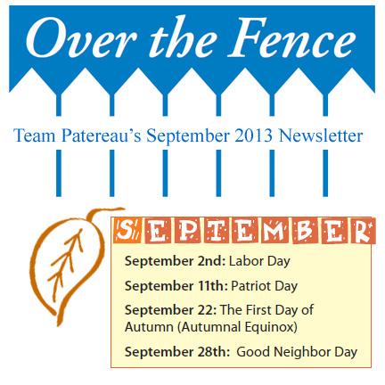 logo for Over the Fence newsletter