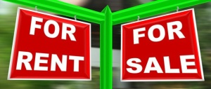rent sign & sale sign