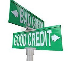 street signs Bad Credit & Good Credit
